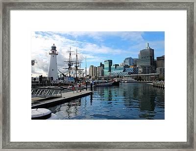 City Docks Framed Print by Harlan Fijal-Campbell