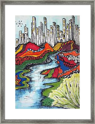 City Meets Nature Framed Print by Lynne Howard