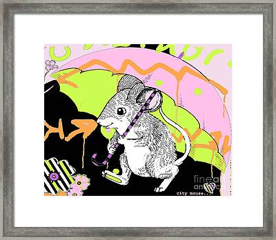 City Mouse Baby Licensing Art Framed Print by Anahi DeCanio