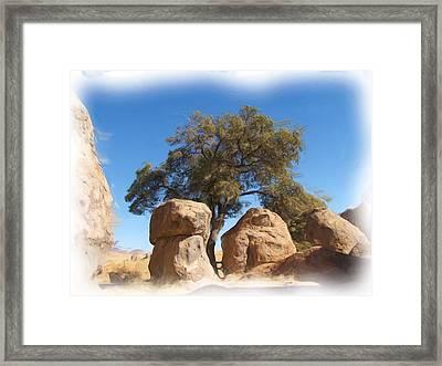 City Of Rocks State Park Framed Print by FeVa  Fotos