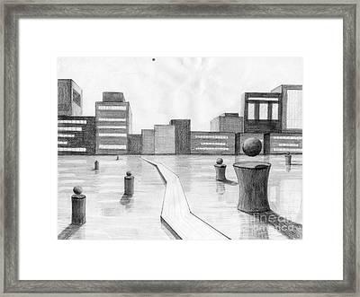 City Scene Framed Print by Alyssa Barilar
