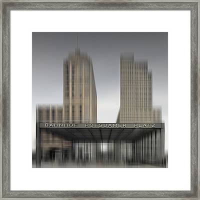 City-shapes Berlin Potsdamer Platz Framed Print by Melanie Viola