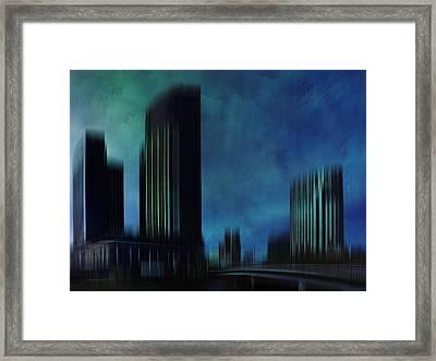 City Shapes Melbourne I Framed Print by Melanie Viola