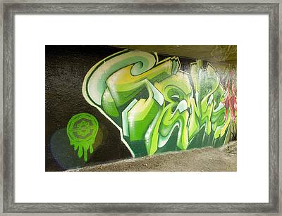 City Sponsored And Approved Graffiti Framed Print by Bill Hatcher