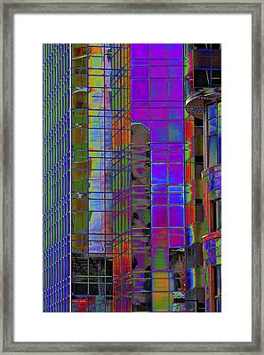 City Windows Abstract Pop Art Colors Framed Print by Phyllis Denton