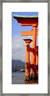Citymarks Miyajima Framed Print by Roberto Alamino