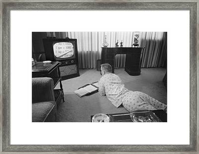 Civil Rights, Classes On Television Framed Print by Everett