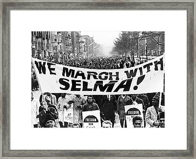 Civil Rights March, 1965 Framed Print by Granger