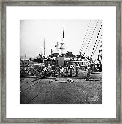 Civil War: Black Labor Framed Print by Granger