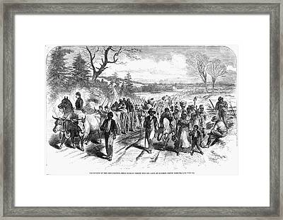 Civil War: Freedmen, 1863 Framed Print by Granger