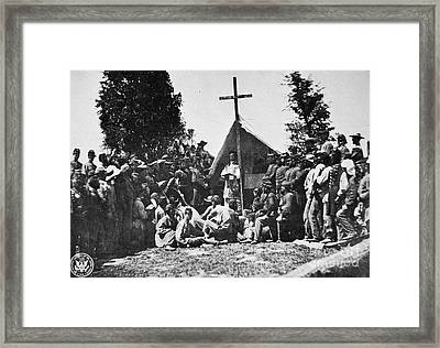 Civil War: Religion Framed Print by Granger