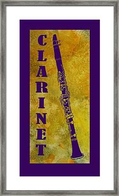 Clarinet Framed Print by Jenny Armitage