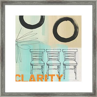 Clarity Framed Print by Linda Woods