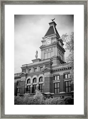 Clarksville Court House Framed Print by Paul Bartoszek
