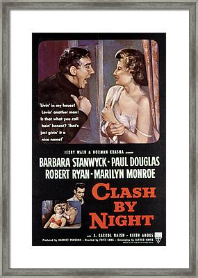 Clash By Night, Paul Douglas, Barbara Framed Print by Everett