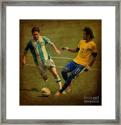 Clash Of The Titans IIi Framed Print by Lee Dos Santos