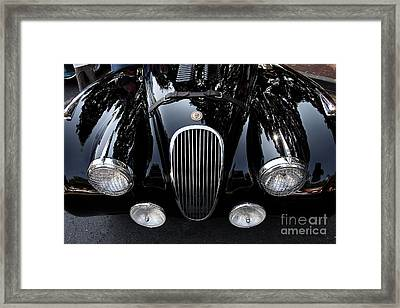 Classic Black Jaguar . 40d9322 Framed Print by Wingsdomain Art and Photography