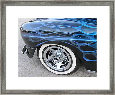 Classic Car Blue Flame 4 Framed Print by Anita Burgermeister