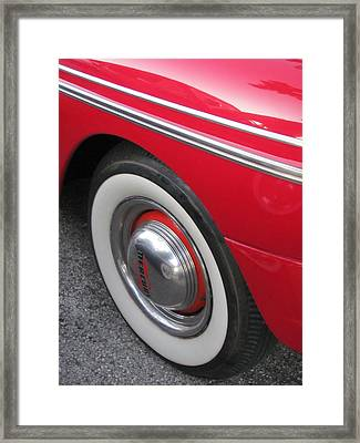 Classic Car Mercury Red 1 Framed Print by Anita Burgermeister