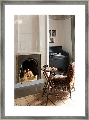 Classic Fireplace And Organ Framed Print by Jaak Nilson