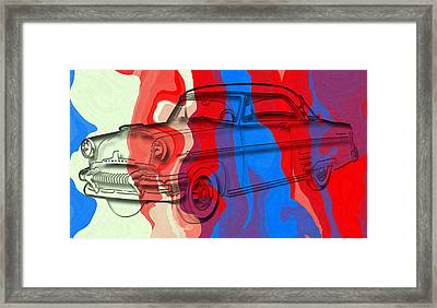 Classic Mercury Abstract Framed Print by David G Paul