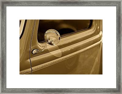 Classic Pickup Truck Door Framed Print by M K  Miller