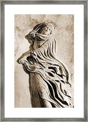 Classical Greek Dancer. Albumen Print Framed Print by Everett