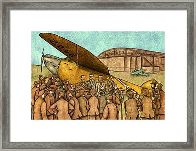 Classical Planes 1 Framed Print by Autogiro Illustration