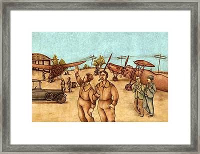 Classical Planes 2 Framed Print by Autogiro Illustration