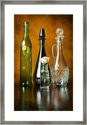 Classy Glass Framed Print by Peter Chilelli