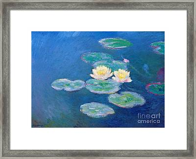 Claude Monet Nympheas 1907 Framed Print by Pg Reproductions