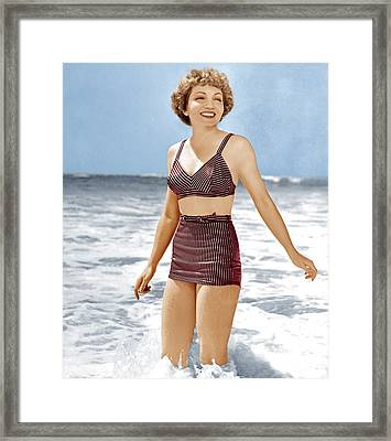 Claudette Colbert, Ca. 1941 Framed Print by Everett