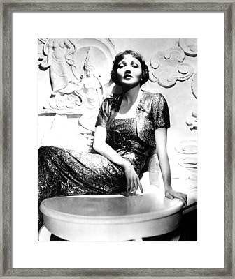 Claudette Colbert In The Early 1930s Framed Print by Everett