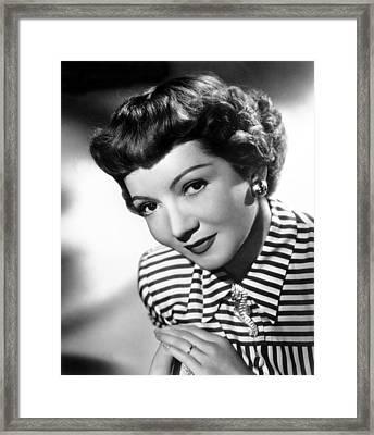 Claudette Colbert, Portrait, 1940s Framed Print by Everett