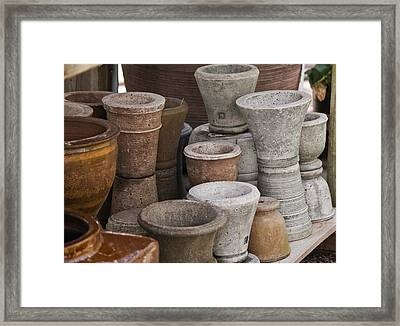 Clay Pots Framed Print by Teresa Mucha