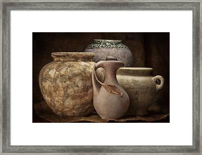 Clay Pottery I Framed Print by Tom Mc Nemar