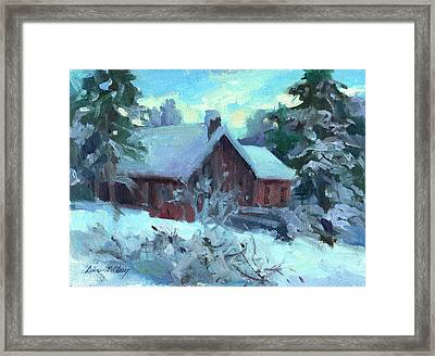 Cle Elum Cabin Framed Print by Diane McClary