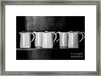 Clean White No.4 Framed Print by Chavalit Kamolthamanon