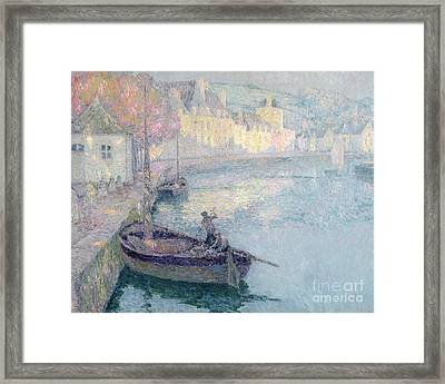 Clear Morning - Quimperle Framed Print by Henri Eugene Augustin Le Sidaner