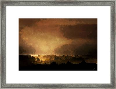 Clearing Storm Framed Print by Ron Jones