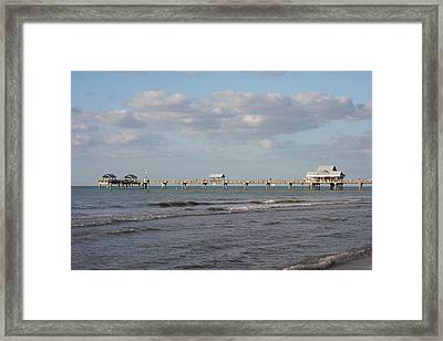 Clearwater Pier 69 Framed Print by Christiane Schulze Art And Photography