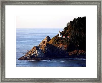 Cliff Dwellers Framed Print by Karen Wiles