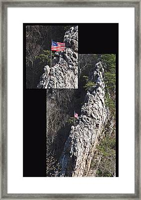 Climb To Great Heights Framed Print by Elisia Cosentino