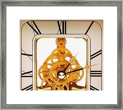 Clock Mechanism Framed Print by Victor De Schwanberg