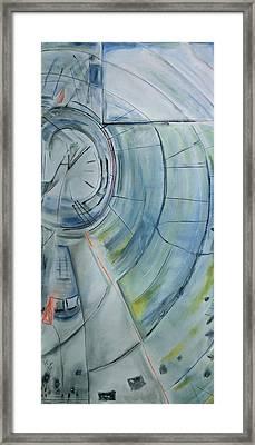 Clock Framed Print by Roger Leighton