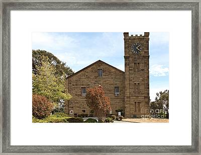 Clock Tower 1859 - Benicia California - 5d18601 Framed Print by Wingsdomain Art and Photography