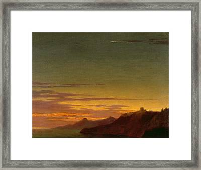 Close Of The Day - Sunset On The Coast Framed Print by Alexander Cozens