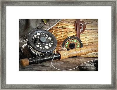 Close-up Fly Fishing Rod  Framed Print by Sandra Cunningham