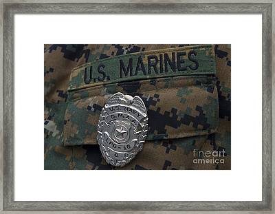 Close-up Of A Duty Master-at-arms Badge Framed Print by Stocktrek Images
