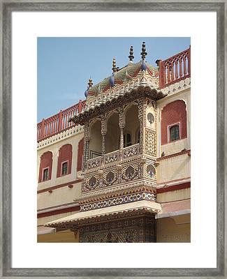 Close Up Of Blacony Of City Palace Framed Print by Marianna Sulic